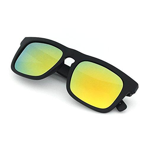 J+S Raglan Surfer's Polarized Mirror Lens Wayfarer Sunglasses for Men