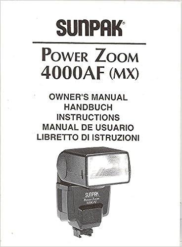 Original instruction manual for sunpak power zoom 4000af.