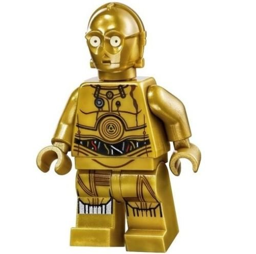 LEGO Star Wars Minifigure - C-3PO Printed Legs Colorful Wires (75059)