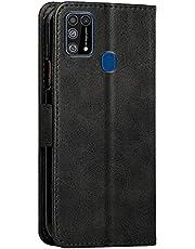 حافظة جلد لهاتف سامسونج M31 Business - أسود