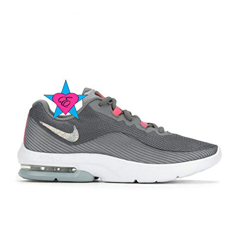 Bling Shoes for Girls | Bedazzled Gray N I K E Air Max Advantage 2 | 3.5-7 | Running Shoes