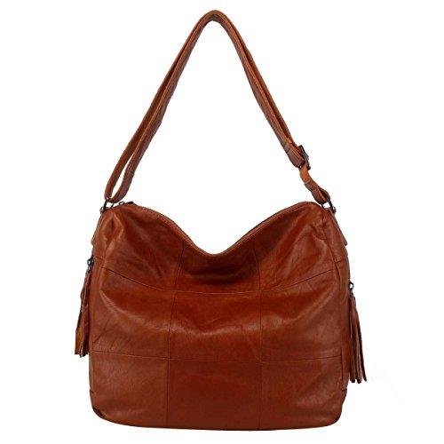 Damenhandtasche Fashion Umhängetasche Einfache Messenger Bag,Yellow-OneSize