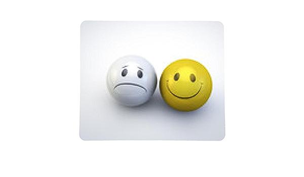 alfombrilla de ratón caras sonrientes felices y tristes: Amazon ...