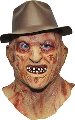 Freddy Krueger Girl Costumes (Nightmare On Elm Street Freddy Krueger Deluxe Mask & Hat)