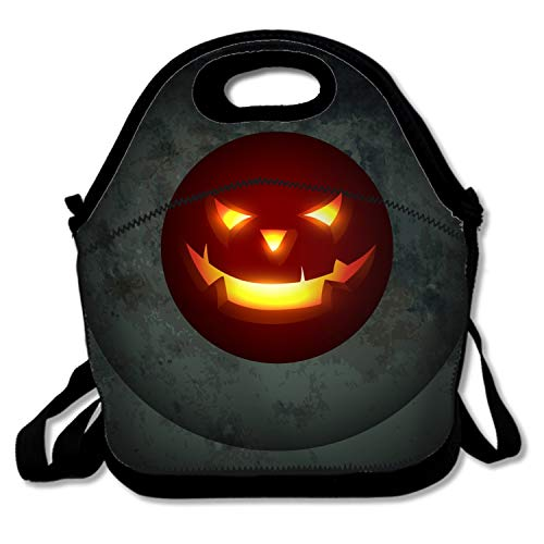 Classic Halloween Background Lunch Tote Bag - Easy to Carry to School, Office, Picnic]()