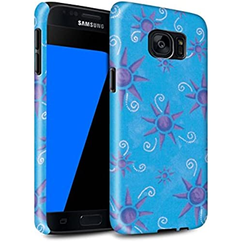 STUFF4 Gloss Tough Shock Proof Phone Case for Samsung Galaxy S7/G930 / Blue/Purple Design / Sun/Sunshine Pattern Sales