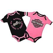 Harley-Davidson Baby Girl  My Daddy Rides a Harley  One-Piece 9-12M