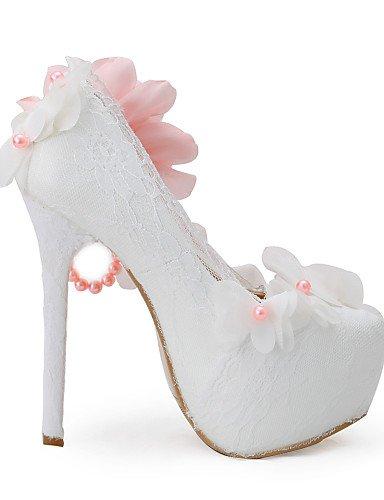 boda Zapatos Uk3 us8 5 tacones Noche Eu36 mujer Zq us5 tacones Cn35 Fiesta De Over 5in 5 amp; Over Y Vestido Eu39 Boda Uk6 5 Cn40 5 blanco Xnxdxfq