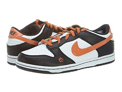 Nike Youth's Dunk Low White/Soft Orange-Black US 7 M