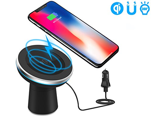 Wireless Car Charger, WYNK 2-in-1 Magnetic Car Mount Phone Holder for Air Vent/Dashboard Qi Standard Charging for iPhone X/8/8 Plus/Samsung Galaxy S9/S9 PLus/S8/S8 Plus/S7/S7 Edge/Note 8