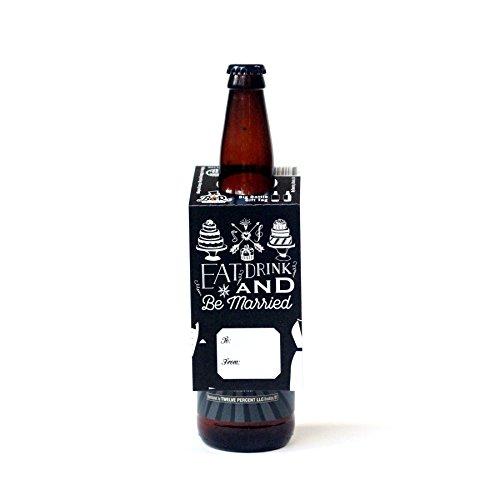Beer Greetings - Big Bottle Gift Tags (Be Married - Set of 4)