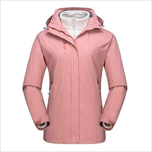 in E In Size Traspirante Outdoor one Felicipp Pezzi Da Due Donna Antivento Impermeabile Giacca Red M color Alpinismo Invernale Tre Pink Caldo ff8C6q