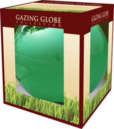 Alpine Corporation Electric Green Gazing Globe - Glass Sphere with Neck  - Outdoor Yard Art Decor - 10