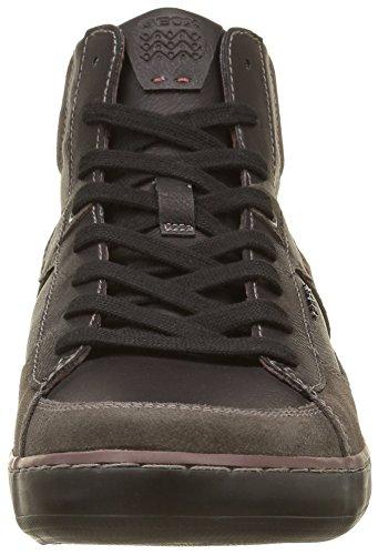 Geox U Box B, Zapatillas Altas para Hombre Grau (DK GREY/BLACKC0062)