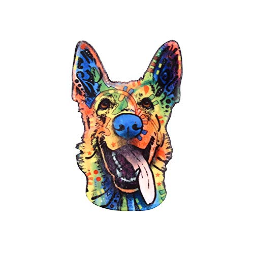 ink2055 Unisex Brooches Gifts Jewelry Gift Animal Shepherd Dog Lapel Badge Acrylic Clothes Brooch Pin - - Acrylic Brooch