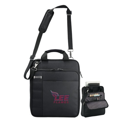 Lee University Kenneth Cole Black Vertical Checkpoint Friendly Messenger 'Official Logo' by CollegeFanGear