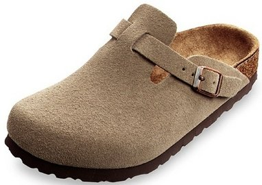 70fa6cf9d04 Image Unavailable. Image not available for. Color  Mens Birkenstock Boston  Taupe Suede Soft Footbed ...