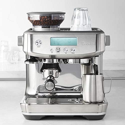 Breville the Barista Pro BES878 Automatic Espresso Machine w Integrated Conical Burr Grinder Brushed Stainless Steel