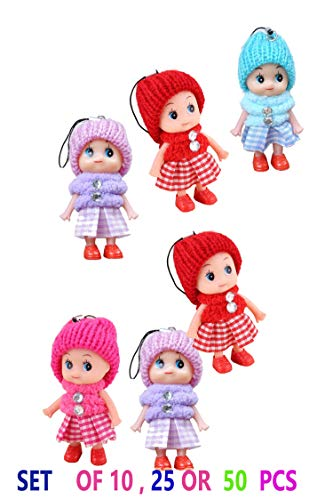 - BABY DOLLS , GOOD FOR PARTY , KEY CHAIN , CHRISTMAS DECORATION SET OF 10