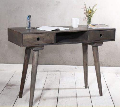 Hecho a mano madera maciza mesa de ordenador estudio oficina de ...