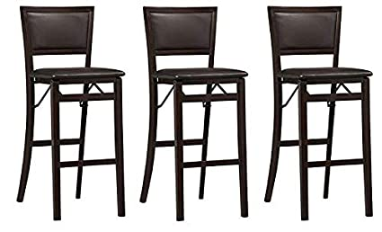 Surprising Linon Keira Pad Back Folding Bar Stool Pack Of 3 Free Cleaning Cloth Camellatalisay Diy Chair Ideas Camellatalisaycom