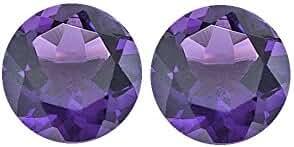 3.50 Cts of AAA 8 mm Round Matching Loose Amethyst ( 2 pcs set ) Gemstones