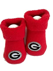 Georgia Bulldogs Baby Booties Red Infant...