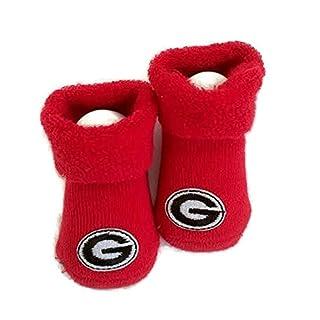 Georgia Bulldogs Baby Booties Red Infant Socks NCAA Licensed Logo UGA