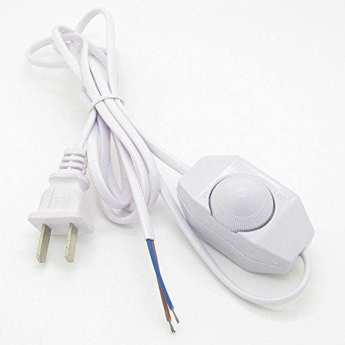 Cable Switch Dimmer (No Polarity Switch Line Aroma Lamp Light Modulator Dimmer Switch Dimming Cable White)