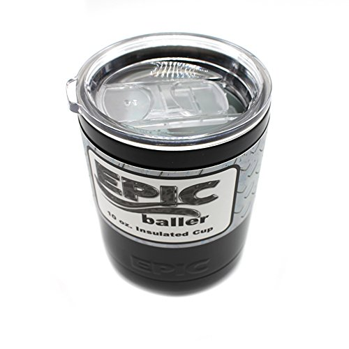 Epic 10 Oz Black Insulated Tumbler Lowball Double Wall