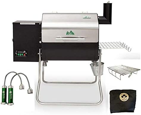 Davy Crockett Pellet Grill Tailgating Package Includes Cover-Collapsible Rack-BBQ Lights
