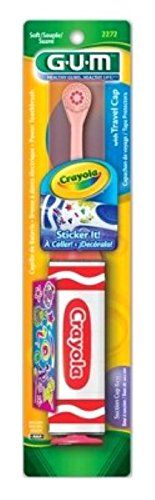 Gum Toothbrush Crayola Power With Stickers (6 Pack) by Butler