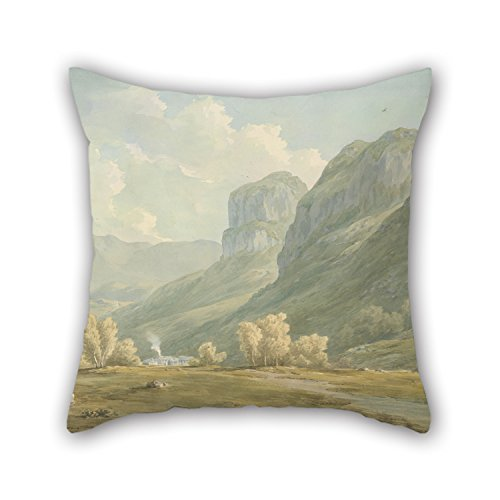 Pillow Shams Of Oil Painting John Warwick Smith - Village Of Stonethwaite And Eagle Cragg, Borrowdale,for Bar,chair,home Theater,kids Girls,home Office 18 X 18 Inches / 45 By 45 Cm(both Sides) ()