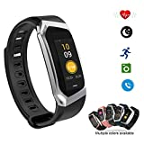 Smart Watch Color Touchscreen 2018 Newest Special Edition Bluetooth Sport Band with Heart Rate & Blood Pressure & GPS Sleep Monitor Fitness Activity Tracker, Android iOS(Black&Silver) For Sale