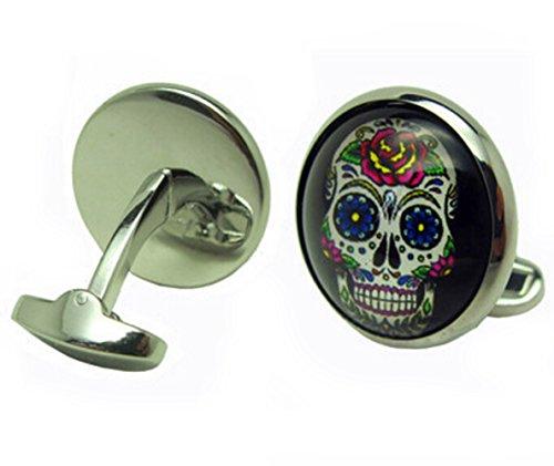 Gudeke Journée des boutons de manchette boutons de chemise français des Skull Dead Men
