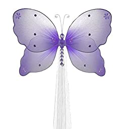 The Butterfly Grove Emily Butterfly Curtain Tieback for Baby, Purple Wisteria, Small/5\