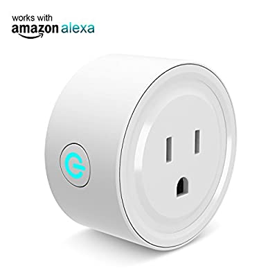 Mini Smart Plug Outlet Works with Amazon Alexa Google Home Ifttt,no Hub Required,ETL and FCC listed Wifi enabled Remote Control Smart Socket by Gosund