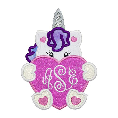 Unicorn Personalized Name Applique Patch - Iron on patch