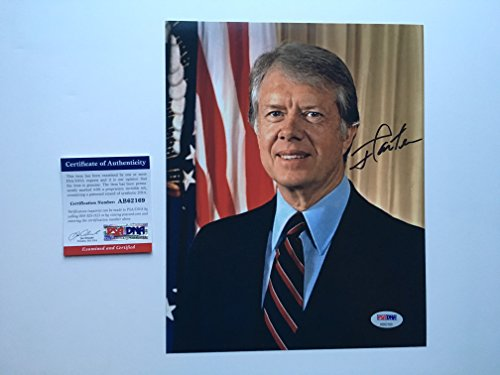 Jimmy Carter Rare! signed president 8x10 photo PSA/DNA coa with PROOF!!