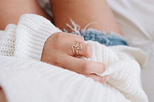 Pura Vida Rose Gold Coated Wave Ring - Gold Plated .925 Sterling Silver - Size 5 by Pura Vida (Image #4)