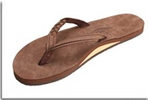 Rainbow Sandals Women's Premier Leather Expresso Flirty Braidy - Small (B)M US Premiere Leather