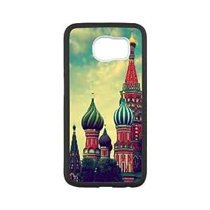 Samsung Galaxy S6 Cases Colorful Church, Samsung Galaxy S6 Cases Church, [White]