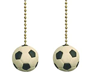 Soccer ball sports games ceiling fan pulls light chain set of two soccer ball sports games ceiling fan pulls light chain set of two mozeypictures Gallery