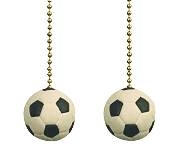 Soccer ball sports games ceiling fan pulls light chain set of two soccer ball sports games ceiling fan pulls light chain set of two mozeypictures Choice Image