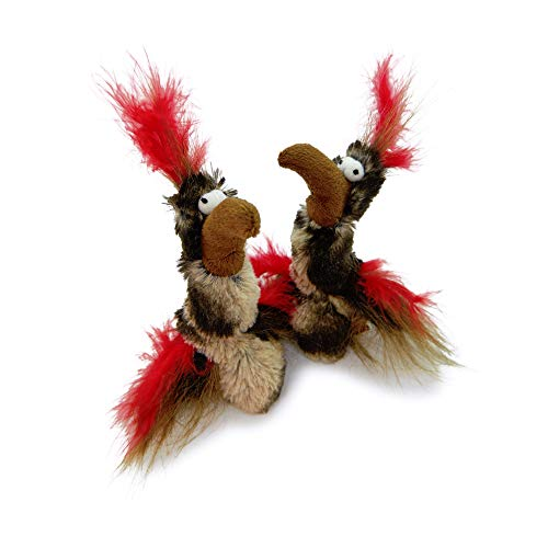 - Pet Craft Supply Co. Funky Pheasant Crazy Catnip Cuddler Funny Cuddling Chasing Hunting Irresistible Stimulating Soft Plush Boredom Relief Interactive Cat Toy with Realistic Feathers