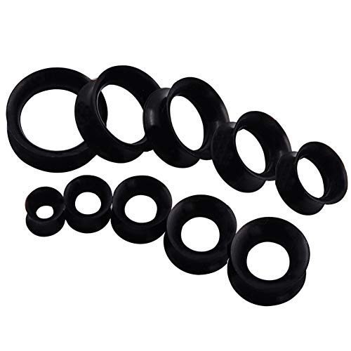 """Qmcandy 20pcs 2G-1"""" Thin Silicone Hollow Flexible Ear for sale  Delivered anywhere in USA"""