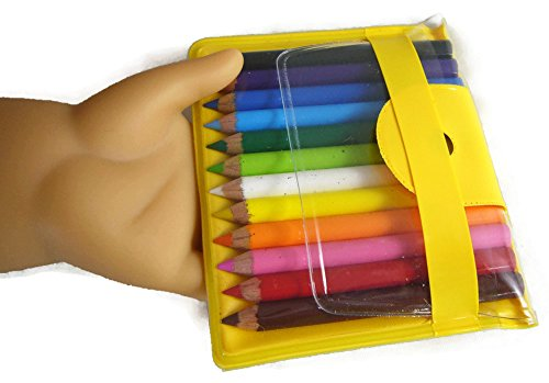 "Mini Colored Pencil Set for 18"" Dolls such as American Girl"