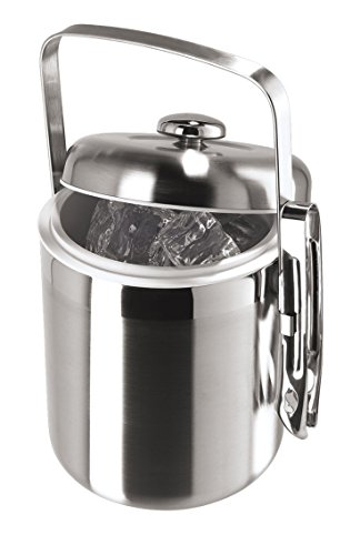 2 Quart, Stainless Steel Ice Bucket with Tongs