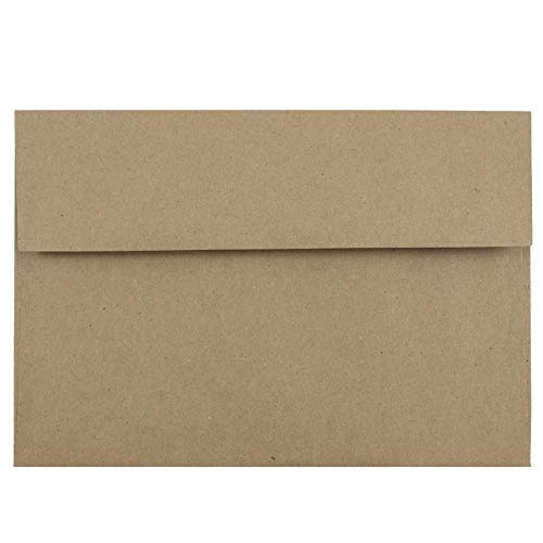 - JAM PAPER A8 Premium Invitation Envelopes - 5 1/2 x 8 1/8 - Brown Kraft Paper Bag - 50/Pack