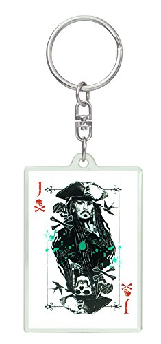 Disney Pirates of The Caribbean: Dead Men Tell No Tales - Jack Sparrow Lucite Key Ring Key Accessory ()